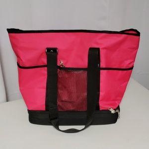 Handbags - Hot Pink Travel/Beach Tote